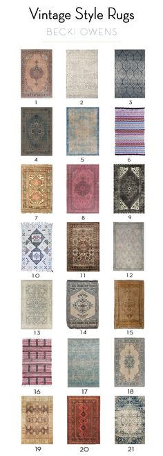 21 Beautiful Vintage Style Rugs