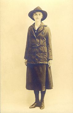 Postcard of Girl Scout Khaki Uniform... lovely girl...she might be a Girl Guide...