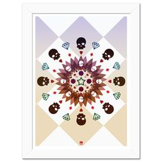 Poster Caleidoscopio Skull  http://candyart.tanlup.com/category/72388/abstratos