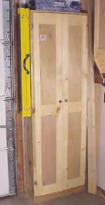 garage shelving plans - tall wall cabinet