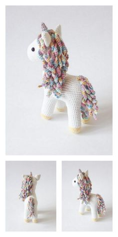 Amigurumi Twinkle Toes the Unicorn Free Pattern – Free Amigurumi Patterns Poney Crochet, Crochet Pony, Crochet Horse, Crochet Fairy, Crochet Animals, Crochet Unicorn Pattern Free, Crochet Patterns Amigurumi, Crochet Dolls, Free Crochet
