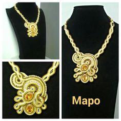 Collana Mapo oro-ambra
