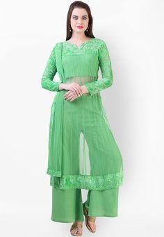 Libas Women's Salwar and Kurta Set - Buy Green Libas Women's Salwar and Kurta… Women Salwar Suit, Salwar Suits Online, Salwar Kameez Online, Best Online Fashion Stores, Online Shopping Stores, Salwar Kurta, Anarkali, Desi Wear, Elegant Dresses