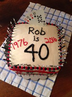 Robs 40th cake