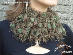 #Cachecol de Croche Fio #Pompom Chique - Aprendendo Crochê