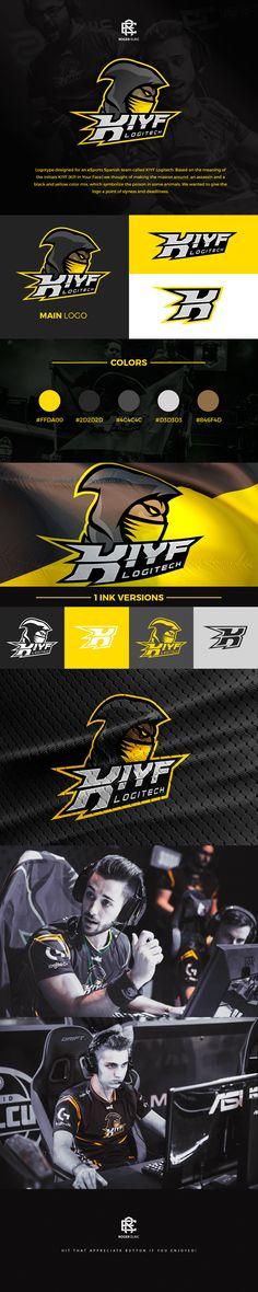 KIYF Logitech Mascot Logo on Behance Logo Branding, Branding Design, Logo Design, Team Logo, Youtube Logo, Logo Background, Esports Logo, Badge Design, Animal Logo