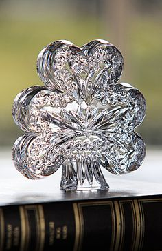 Waterford Shamrock Paperweight
