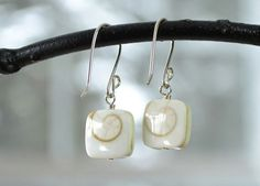 Spiral Shell Earring Shiva Shell Earrings by stonewillowjewellery