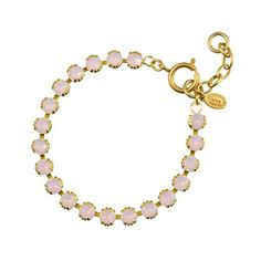 Catherine Popesco Gold Plated Tennis Bracelet with Rosewater Swarovski Crystals by La vie Parisienne -- Awesome products selected by Anna Churchill