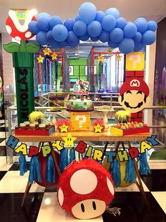 Isn't it fun to have a Super Mario party? I hope this list of Super Mario party ideas can inspire you to create a Super fun party. Mario Birthday Cake, Super Mario Birthday, Super Mario Party, 6th Birthday Parties, Super Mario Bros, Mario E Luigi, Mario Kart, Nintendo Party, Peach Party