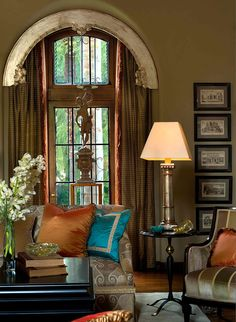 Beautiful living room! by Jennifer Bevin Interiors.