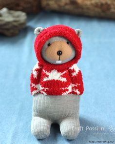Как сшить игрушку - медвежонка из пары носочков (35) (560x700, 261Kb)
