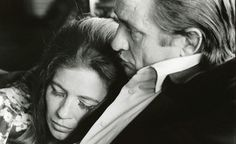Jim Marshall gets this intimate shot of Johnny Cash and June Carter Cash at home - the photographer followed Cash during his career.