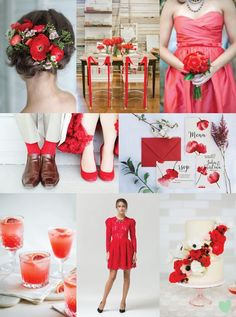Pantone Colour 2016 #Fiestared Wedding Styling Mood Board from The #Wedding Community  #weddingideas