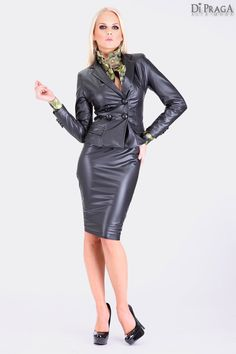 "MV4 Ruffled Techno Blouse ""Glamorize"", Leather Costume"