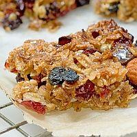Cranberry Muesli Bars #vegan