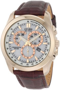 Citizen Men's AT1183-07A Chronograph Eco Drive Watch: Watches: Amazon.com