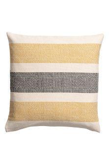 Kuddfodral i canvas - Gul/Flerfärgad - Home All Boho Cushions, Yellow Cushions, Colourful Cushions, Printed Cushions, Seat Cushions, Find Furniture, Home Decor Furniture, Cushion Covers, Cotton Canvas