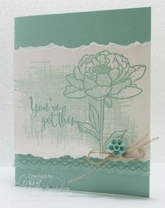 Mint Macaroon Encouragement Card Stampin Up