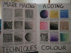 Gcse art sketchbook mark making 38 ideas Drawing Lessons, Art Lessons, Drawing Tips, Gcse Art Sketchbook, Sketchbooks, Sketchbook Ideas, A Level Art Sketchbook Layout, Textiles Sketchbook, Sketchbook Assignments
