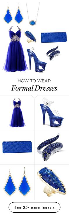 """Blue gems"" by mehrak on Polyvore featuring Kendra Scott, Penny Preville, Pleaser, J. Furmani and Effy Jewelry"