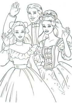 vintage Barbie coloring page