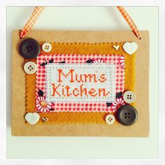 A personal favourite from my Etsy shop https://www.etsy.com/au/listing/288202685/mums-kitchen-wooden-hanging-plaque