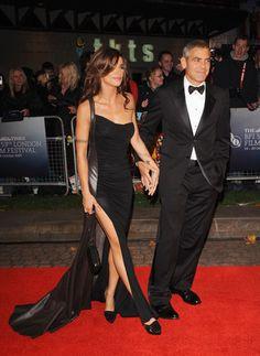 my favorite Italian female, Elisabetta Canalis, swooning Clooney