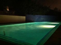 Belmont Pool lit up @ night!