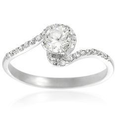Tressa Collection Sterling Silver Cubic Zirconia Bridal Ring