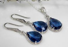 Hey, I found this really awesome Etsy listing at https://www.etsy.com/listing/93271115/sapphire-bridesmaids-jewelry-navy-blue