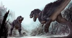 Rex Face-off | Art by Greg Broadmore | Concept design for _King Kong_ © Weta Workshop