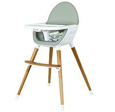 Koo-Di - seggiolone in legno, due colori: grigio e faggio: Amazon.it: Prima infanzia