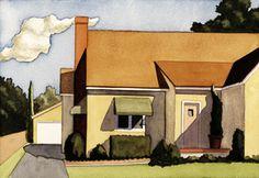 Watercolors - Round Back - Kenton Nelson