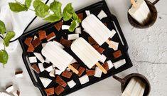 Polo helado de coco y leche condensada   Nestlé Cocina Gelato, Cake Pops, Dairy, Sweets, Cheese, Drink Recipes, Shape, Coconut Ice Cream, Frozen Desserts