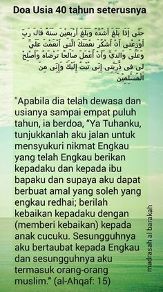 Usia 40 dan hikmah Pray Quotes, Words Quotes, Best Quotes, Muslim Quotes, Religious Quotes, Islamic Inspirational Quotes, Islamic Quotes, Moslem, Love In Islam