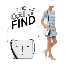 """The Daily Find: Lulu Guinness Marcie Face Bag"" by polyvore-editorial ❤ liked on Polyvore featuring Lulu Guinness, women's clothing, women, female, woman, misses, juniors and DailyFind"