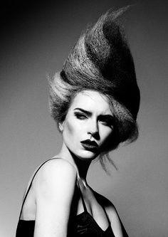 avant garde french twist hair - Google Search