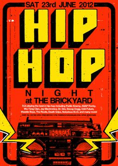 hip hop poster. ben thomas.