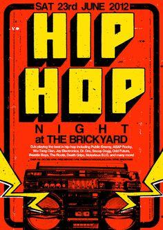 hip hop poster. ben thomas.