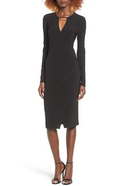 Free shipping and returns on Leith Keyhole Wrap Dress at Nordstrom.com. Designed to cinch your waist and show off your figure, this elegant wrap-style midi dress has a slender front keyhole and asymmetrical hem.