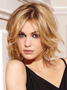 Cute Medium Blonde Hairstyle