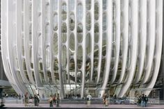 World Architecture Community News - Zaha Hadid Architects' 'Lacework' 600 Collins Street Tower in Melbourne receives planning permission Modern Architecture Design, Victorian Architecture, Futuristic Architecture, Historical Architecture, Amazing Architecture, Dynamic Architecture, Parametric Architecture, Zaha Hadid Architektur, Arquitectos Zaha Hadid