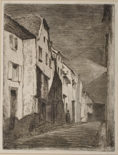James McNeill Whistler (1834-1903), Street at Saverne, etching, 1858