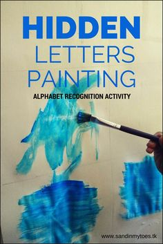 Hidden Letters Painting   An easy painting activity to learn and identify letters - great for toddlers!