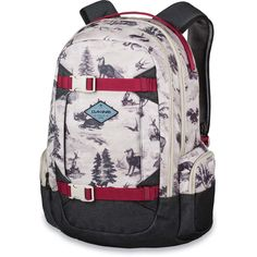 Love the Dakine Mission backpack but looking for a women's specific fit? Look no further! The Dakine Women's Mission backpack has the same handy laptop sleeve and sunglass or goggle stash, but is designed specifically for women. Plus, the vertical snowboa