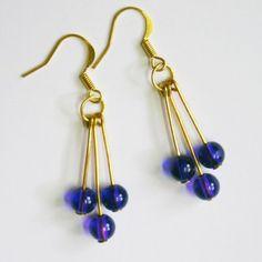 Purple Cascade Earring - Online Shopping for Earrings by Kathya