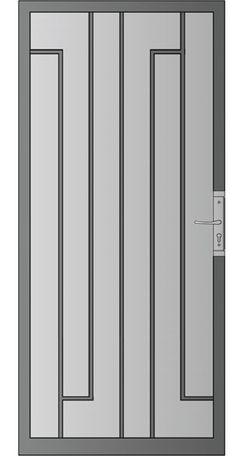 Security door - whitingiron.com Grill Door Design, Door Grill, Metal Gates, Iron Gates, Metal Railings, Steel Gate, Steel Doors, Entrance Gates, Entry Doors