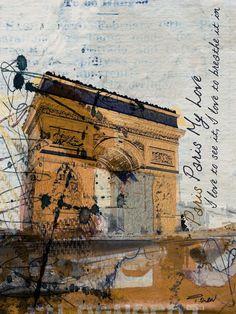 Paris, Paris, Paris, Extra Large Rustic Grey Brown Black Canvas Art Print, Urban Canvas Art Print up to by Irena Orlov Large Canvas Prints, Stretched Canvas Prints, Fine Art Prints, Paris Canvas, Original Art, Original Paintings, Large Artwork, Triomphe, Acrylic Painting Canvas