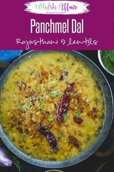 Panchmel Dal or Pancharatan Dal is a Rajasthani style lentil made my mixing 5 different types of lentils. This dal is served with Bati or roti. Paneer Recipes, Veg Recipes, Curry Recipes, Indian Food Recipes, Recipies, Gujarati Cuisine, Gujarati Recipes, Mix Dal Recipe, Vegetarian Cooking